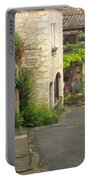 Quiet Lane In St Cirq I France Portable Battery Charger