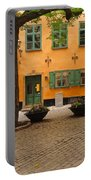 Quiet Little Square In Old Gamla Stan In Stockholm Sweden Portable Battery Charger