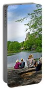 Quiet Moment In Central Park Portable Battery Charger