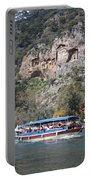 Quintessentially Dalyan River Boats And Rock Tombs Portable Battery Charger