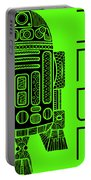 R2d2 - Star Wars Art - Green Portable Battery Charger