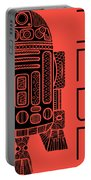 R2d2 - Star Wars Art - Red Portable Battery Charger