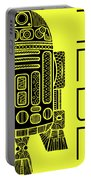 R2d2 - Star Wars Art - Yellow Portable Battery Charger