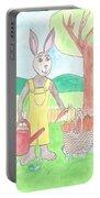 Rabbit Gardening In The Kitchen Garden Portable Battery Charger