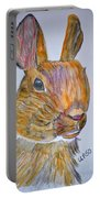 Rabbit Watercolor 15-01 Portable Battery Charger