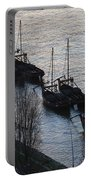 Rabelo Boats On Douro River In Portugal Portable Battery Charger