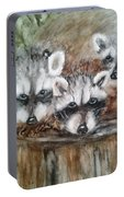 Raccoon Babies By Christine Lites Portable Battery Charger by Allen Sheffield