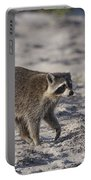 Raccoon On The Beach Portable Battery Charger