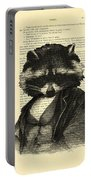 Raccoon Portrait, Animals In Clothes Portable Battery Charger