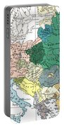 Racial Map Of Europe Circa 1923 Portable Battery Charger