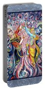 Radha Krishna - Cosmic Dance Portable Battery Charger