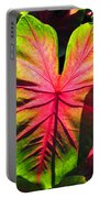 Radiant Caladium Portable Battery Charger