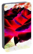 Radiant Red Rose Portable Battery Charger