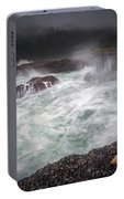 Raging Waves On The Oregon Coast Portable Battery Charger