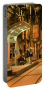 Rail Stop Downtown San Jose California Night Portable Battery Charger