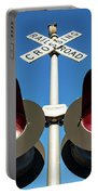 Railroad Crossing Lights Portable Battery Charger