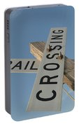 Railroad Crossing Sign Portable Battery Charger