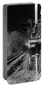 Railway 2 Black And White Portable Battery Charger