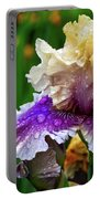 Rain Coated Multi Colored Iris Portable Battery Charger