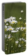Rain Drops On Daisies Portable Battery Charger