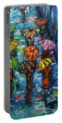 Rain Fantasy Acrylic Painting  Portable Battery Charger