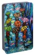 Rain Fantasy Acrylic Painting  Portable Battery Charger