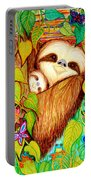 Rain Forest Survival Mother And Baby Three Toed Sloth Portable Battery Charger