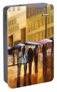 Rain In Manhattan Number Seventeen Portable Battery Charger