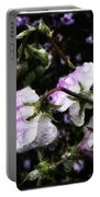 Rain Kissed Petals. This Flower Art Portable Battery Charger by Mr Photojimsf