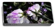 Rain Kissed Petals. This Flower Art Portable Battery Charger
