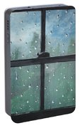 Rain On The Window Portable Battery Charger