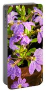 Rain Soaked Fan Flowers Portable Battery Charger