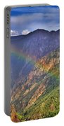 Rainbow Across Canyon Portable Battery Charger