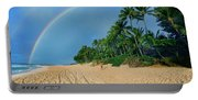 Rainbow At Pipeline, North Shore,  Portable Battery Charger
