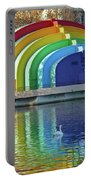 Rainbow Bandshell And Swan Portable Battery Charger
