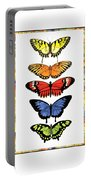 Rainbow Butterflies Portable Battery Charger by Lucy Arnold
