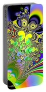 Rainbow Butterfly Bouquet Fractal Abstract Portable Battery Charger