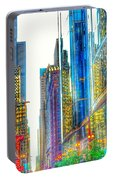 Rainbow Cityscape Portable Battery Charger