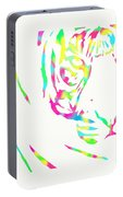 Rainbow Coloured Tiger Portable Battery Charger