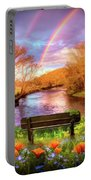 Rainbow Dreams Abstract Portable Battery Charger