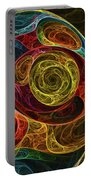 Rainbow Egg Formation Abstract Portable Battery Charger