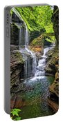Rainbow Falls In Watkins Glen Portable Battery Charger