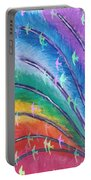 Rainbow Feathers Portable Battery Charger