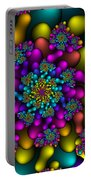 Rainbow Fireworks Fractal Portable Battery Charger