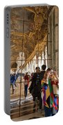 Rainbow Girl In The Hall Of Mirrors Portable Battery Charger