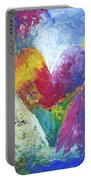 Rainbow Heart In The Cloud Acrylic Paintings Portable Battery Charger