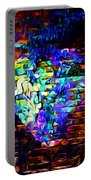 Rainbow Heart On A Wall Portable Battery Charger