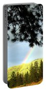 Rainbow In Pine Country Portable Battery Charger