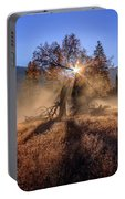 Rainbow In Yosemite Valley Ice Fog Portable Battery Charger