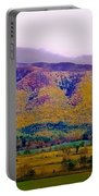 Rainbow Mountain Portable Battery Charger by DigiArt Diaries by Vicky B Fuller